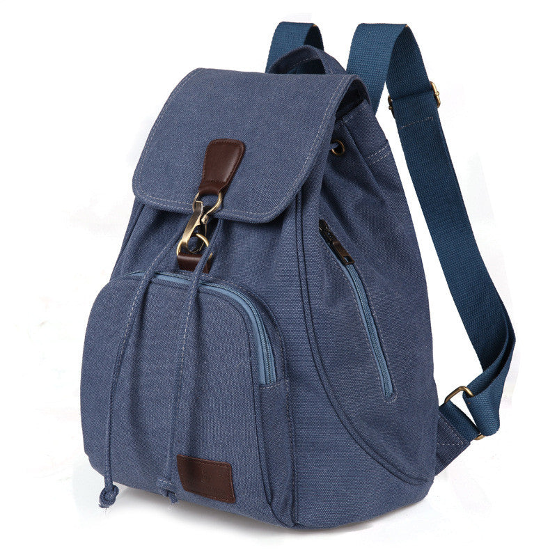 Unisex Canvas Rucksack School Bag