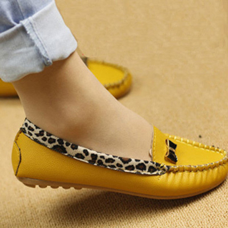 Women Fashion Leopard Flat Loafers Slip-On