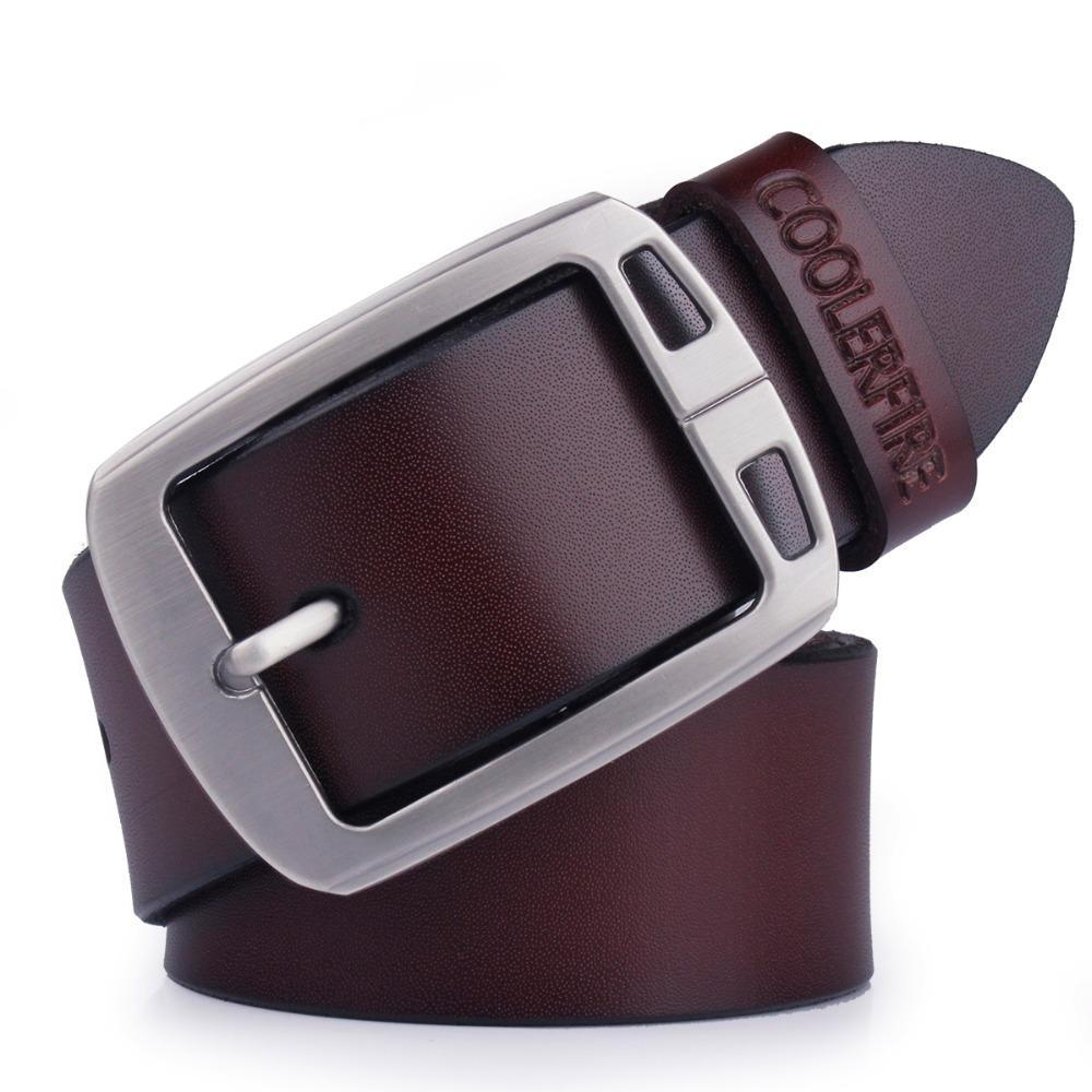 100% Genuine Leather Cowboy Belts For Men