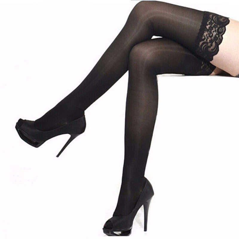 Sheer Lace Thigh High Stockings Pantyhose