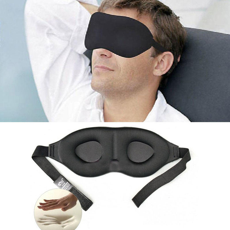 3D Memory Foam Padded Cover Eye Mask