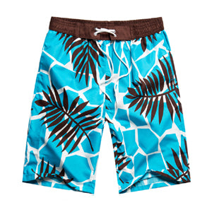 Floral Summer Plaid Men Women Beach Shorts