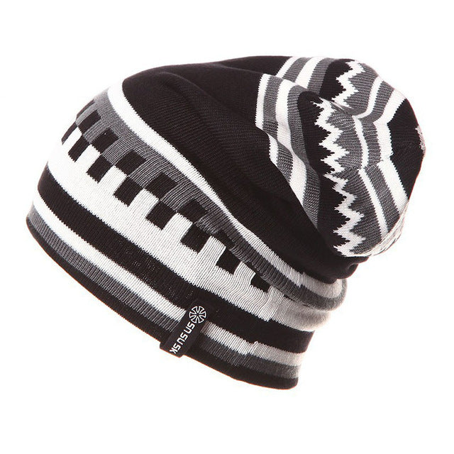 Winter Hats Men Skiing Hat Knitted Beanie Hats