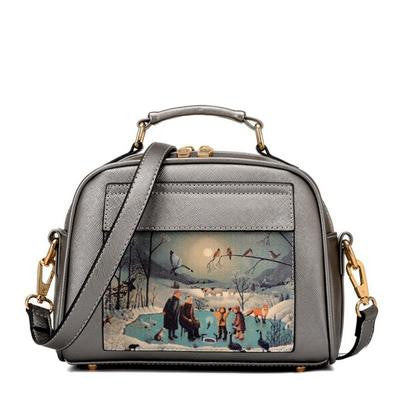 Oil Picture Pattern Tote Handbags