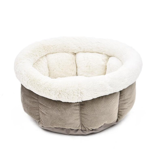 Cat Bed Soft Short Plush Dog Bed