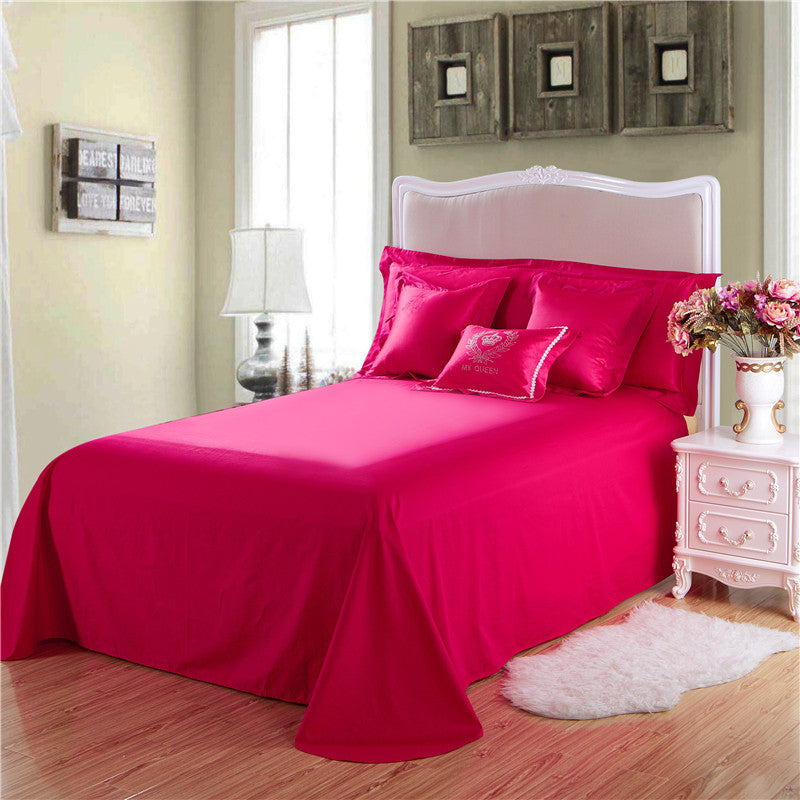 Silky Embroidery Bedding Set King Queen Size
