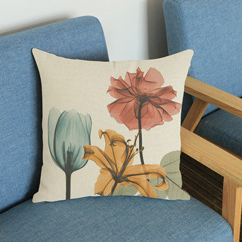 Floral Flower Cushion Cover Pillow Cases