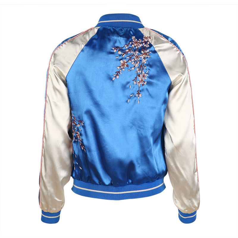 Autumn Women's Embroidery Bomber Jacket