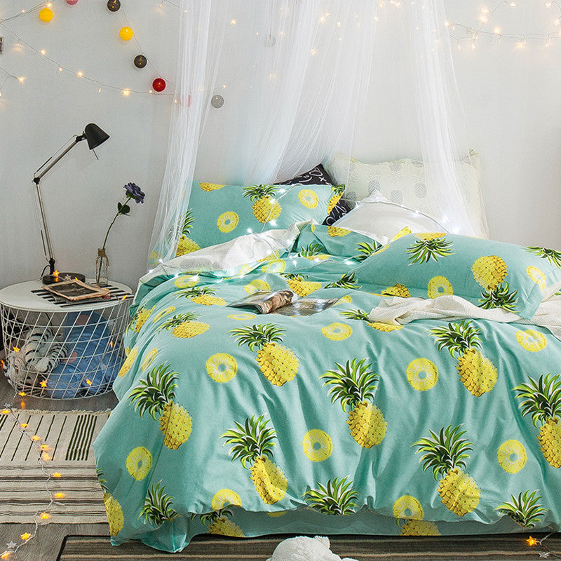 Pineapple Bedding Set King Queen Size