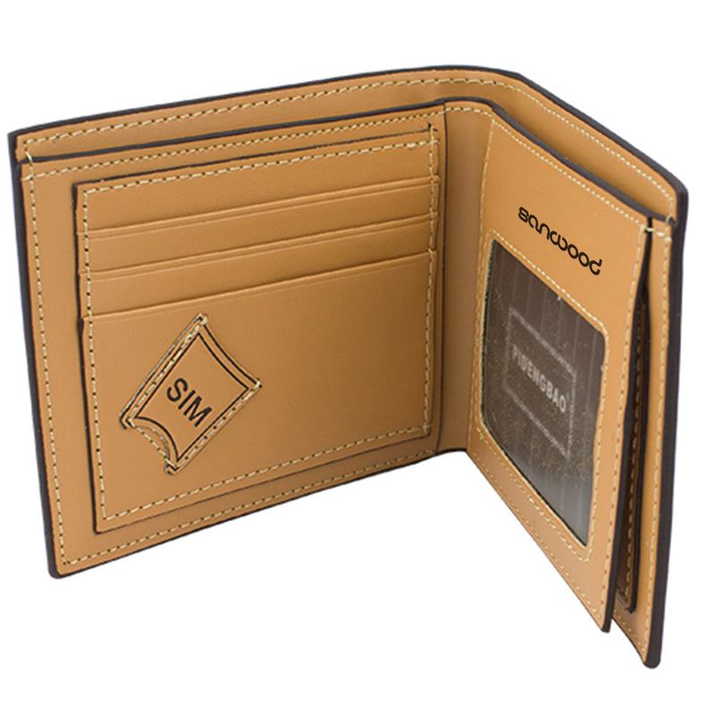 Men's Leather Bifold Wallet Pockets Card Collector