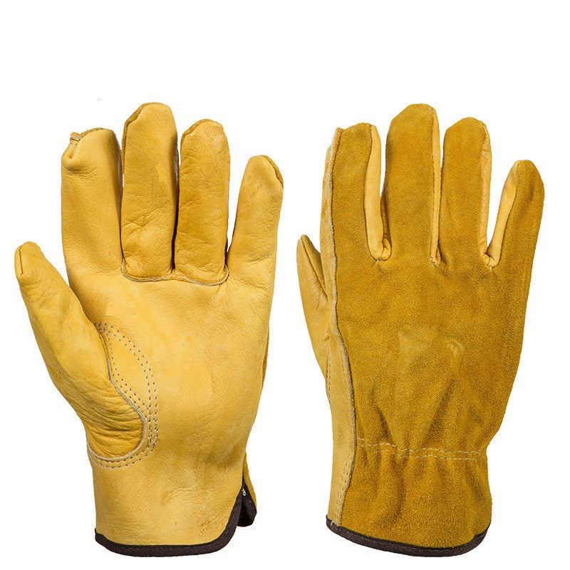 Men's Work Gloves Safety Workers Welding Moto Gloves