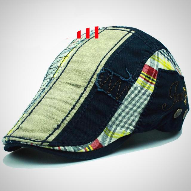 Patchwork Cap Beret Hat For Men