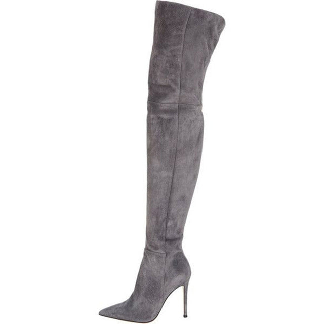 Women Pointed Toe Over Knee Winter Boots