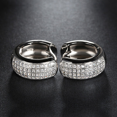 Fashion Hoop Earrings Austrian Crystal