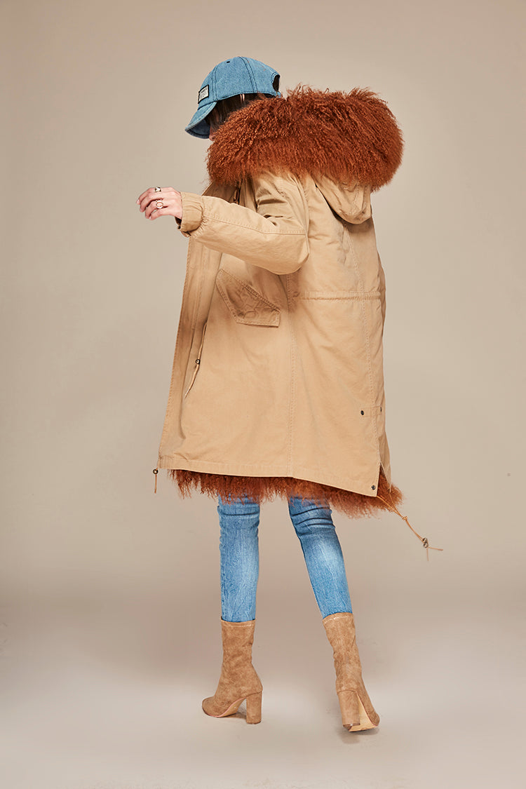 Women's Parka Fur Hooded Winter Jacket