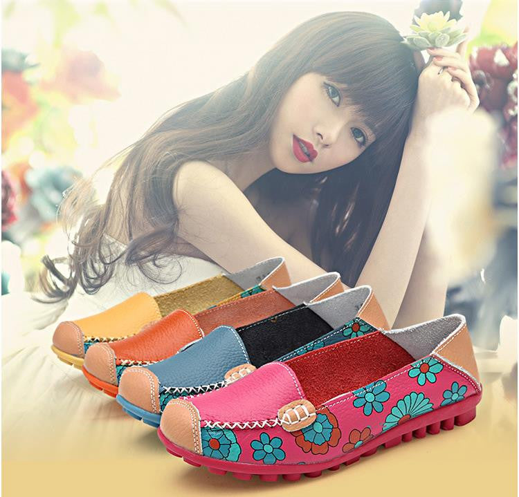 Women Casual Flat Boat Loafers Slip On Shoes