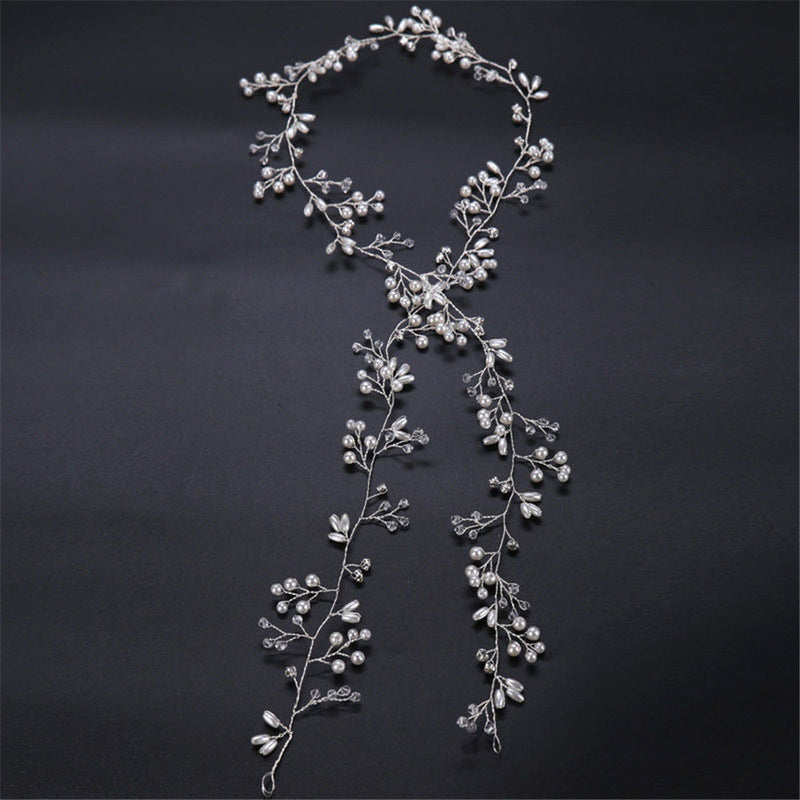 Crystal Pearl Vine Bridal Hair Accessories