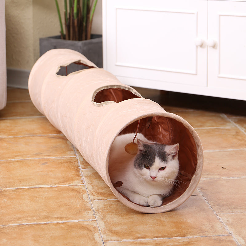 Pet Toys Long Suede Cat Tunnel