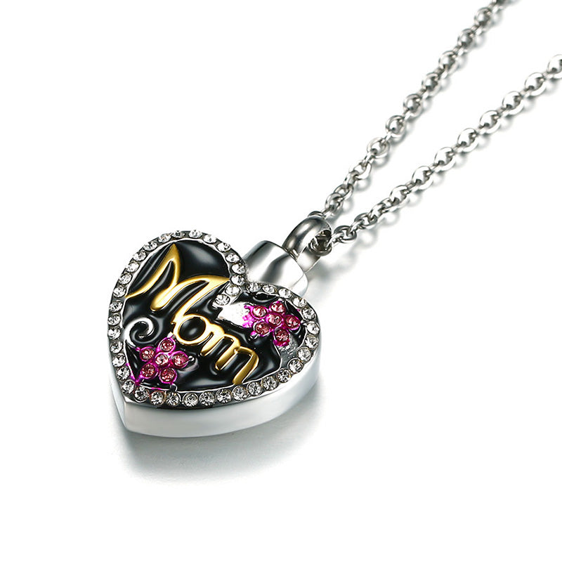 Heart Crystal Flower Necklaces Keepsake