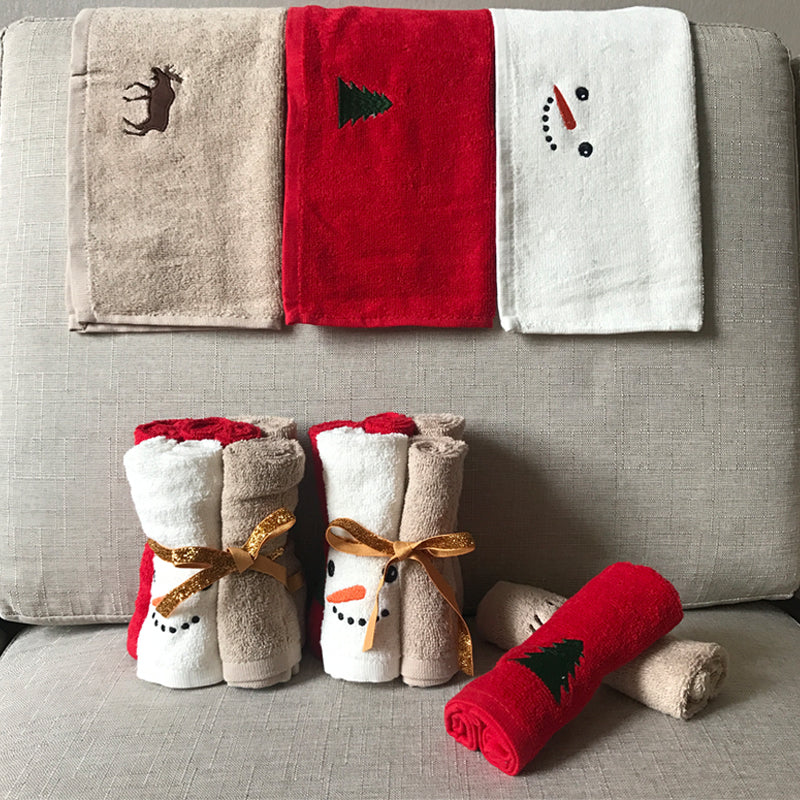 Luxury Towel Washcloth Christmas Gift Set