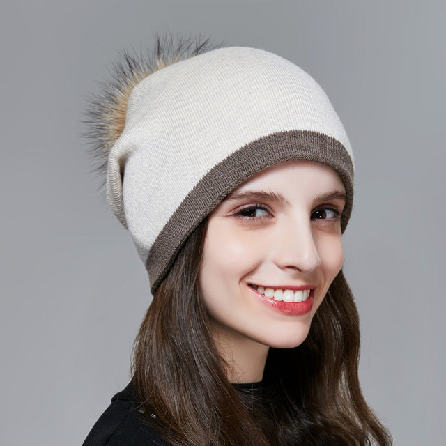 Kate Pompom Beanies Winter Hats