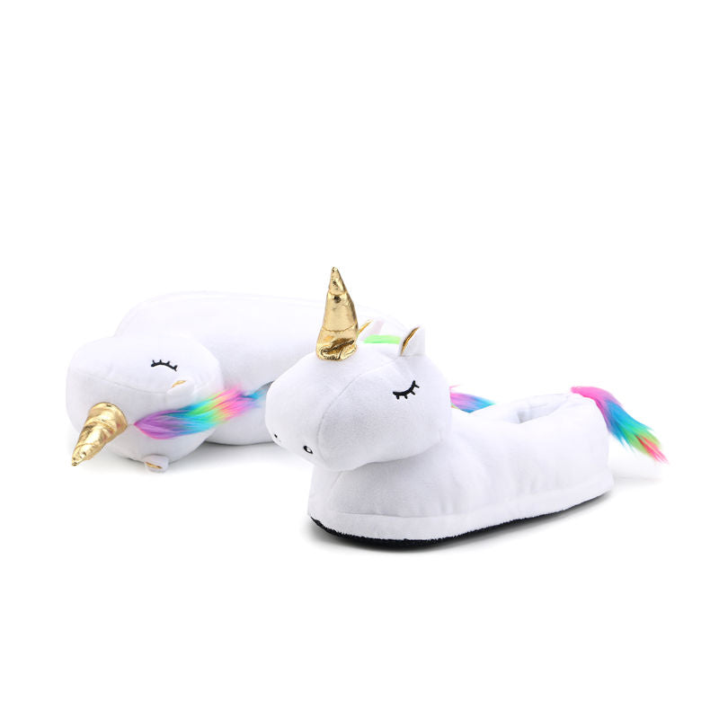 Cute Plush Unicorn Slippers Home Slippers