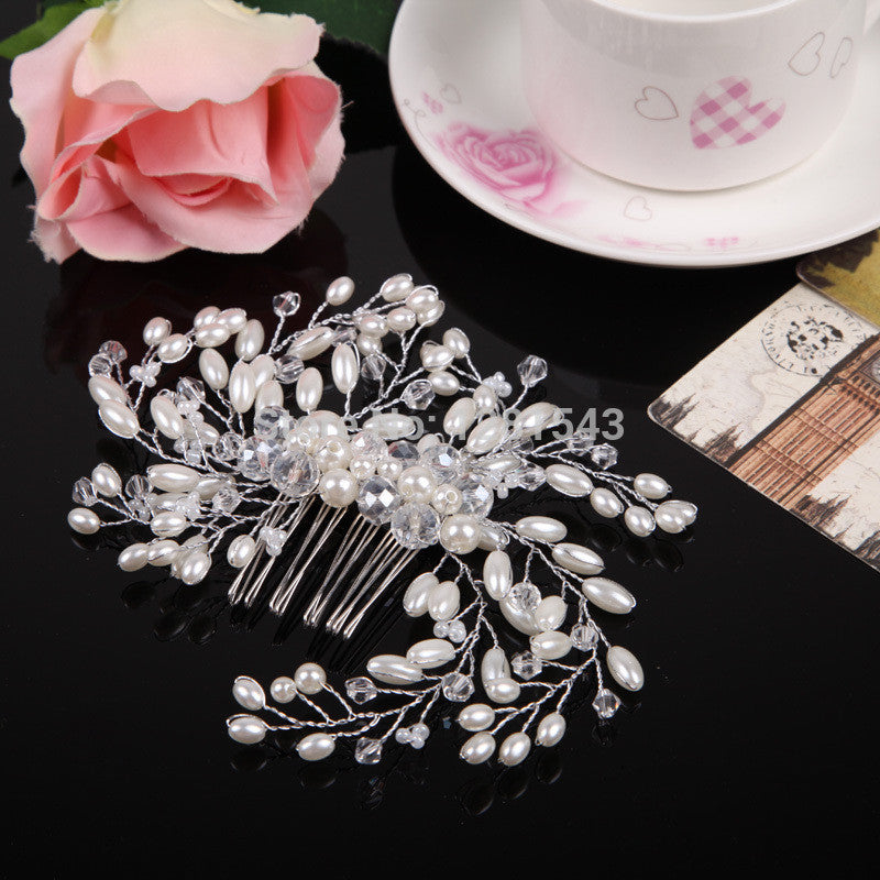 Pearl Bridal Hair Combs Hairpin Tiara
