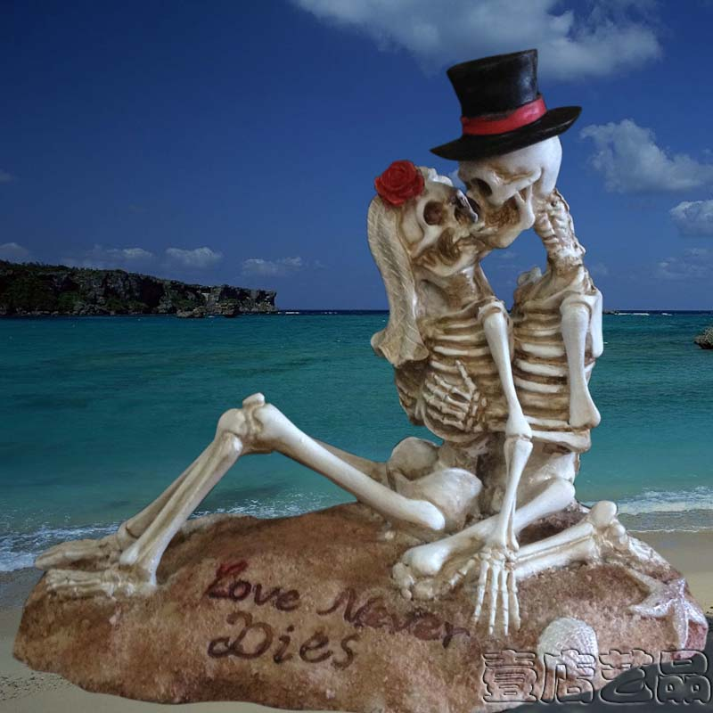 Home Decoration Beach Skull Bride Corpse