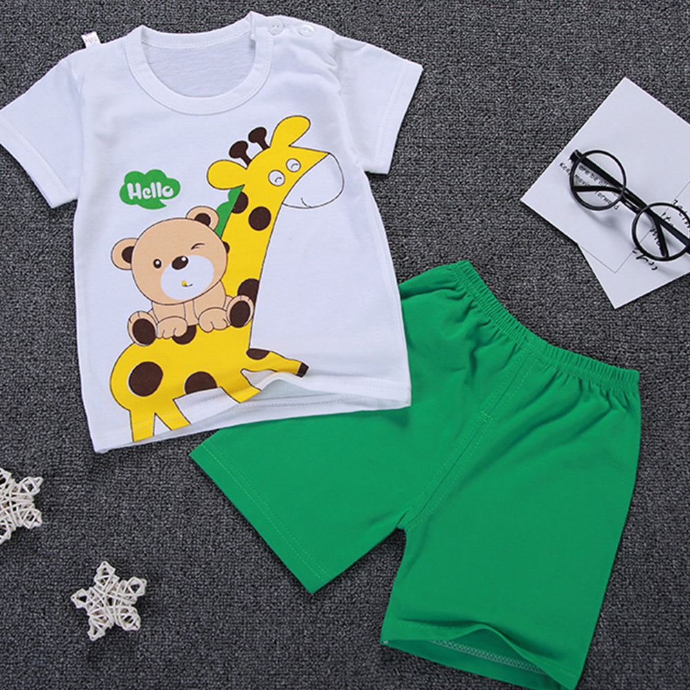 Summer Boys Clothing Sets T-Shirt + Knee Pants
