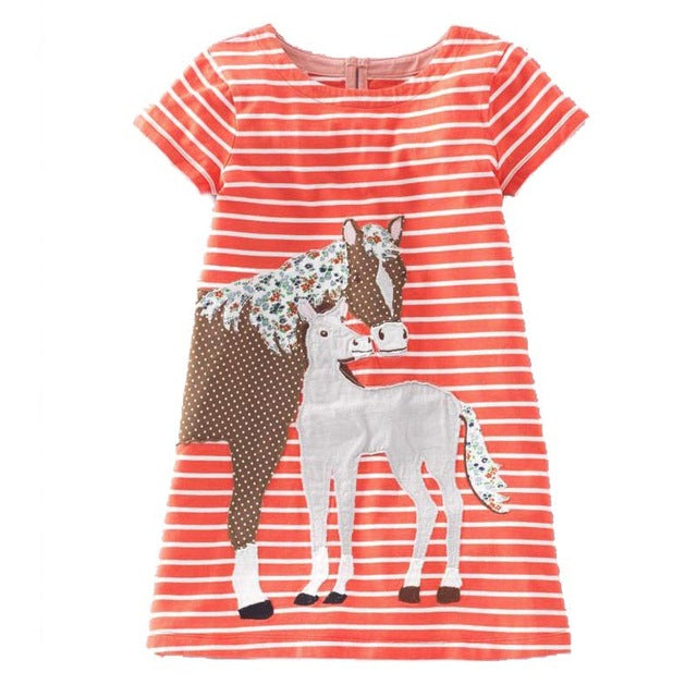 Cute Summer Animal Dresses For Girls
