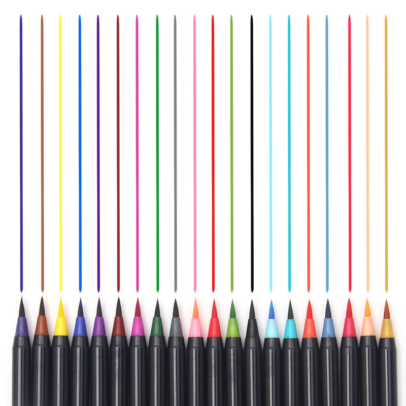 20 Color Premium Watercolor Brush Pen Set