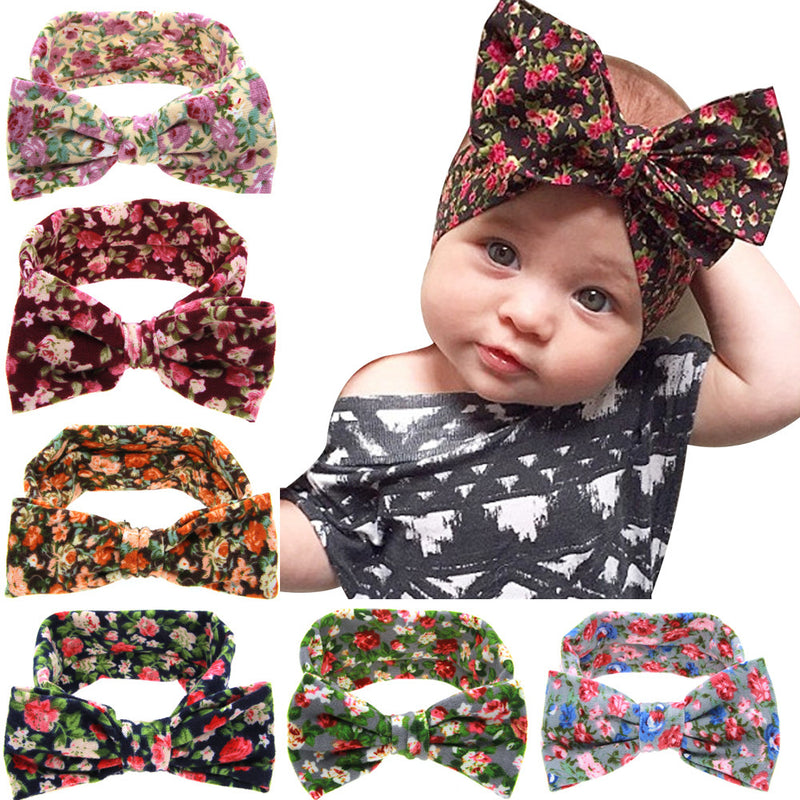 Cute Baby Big Bow Knot Hair Band Headwear