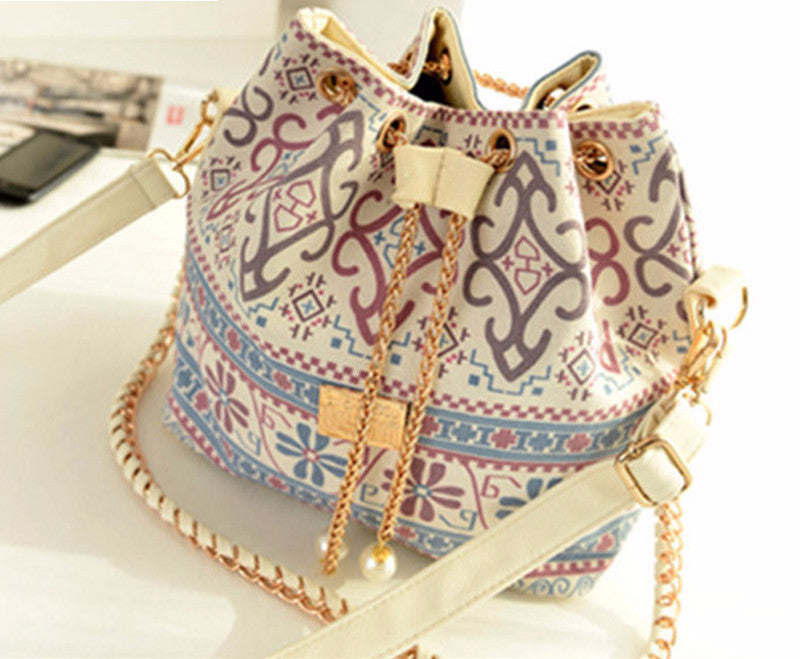 Bohemia Drawstring Lady Bucket Bag