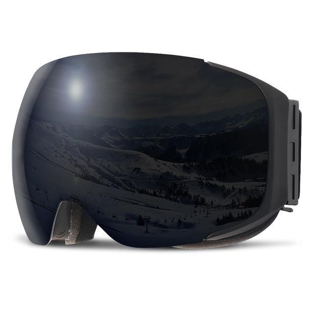 Jet Double Layers Magnetic Snowboard Ski Goggles