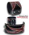 Mahogany Flame Leather Cuff Wristband-Leather Cuffs & Wristbands-Rockstar Leatherworks™