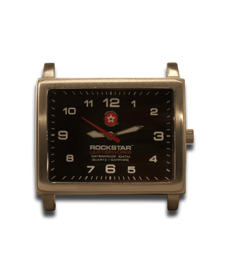 Black Square 42mm Watch Face - Stainless Steel Sapphire Crystal 10ATM-Gift Certs. & Parts-Rockstar Leatherworks™