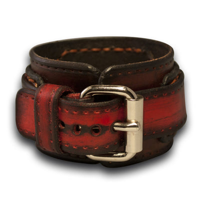Multi-Colored Rockstar Drake Layered Leather Cuff Watch Band-Custom Handmade Leather Watch Bands-Rockstar Leatherworks™
