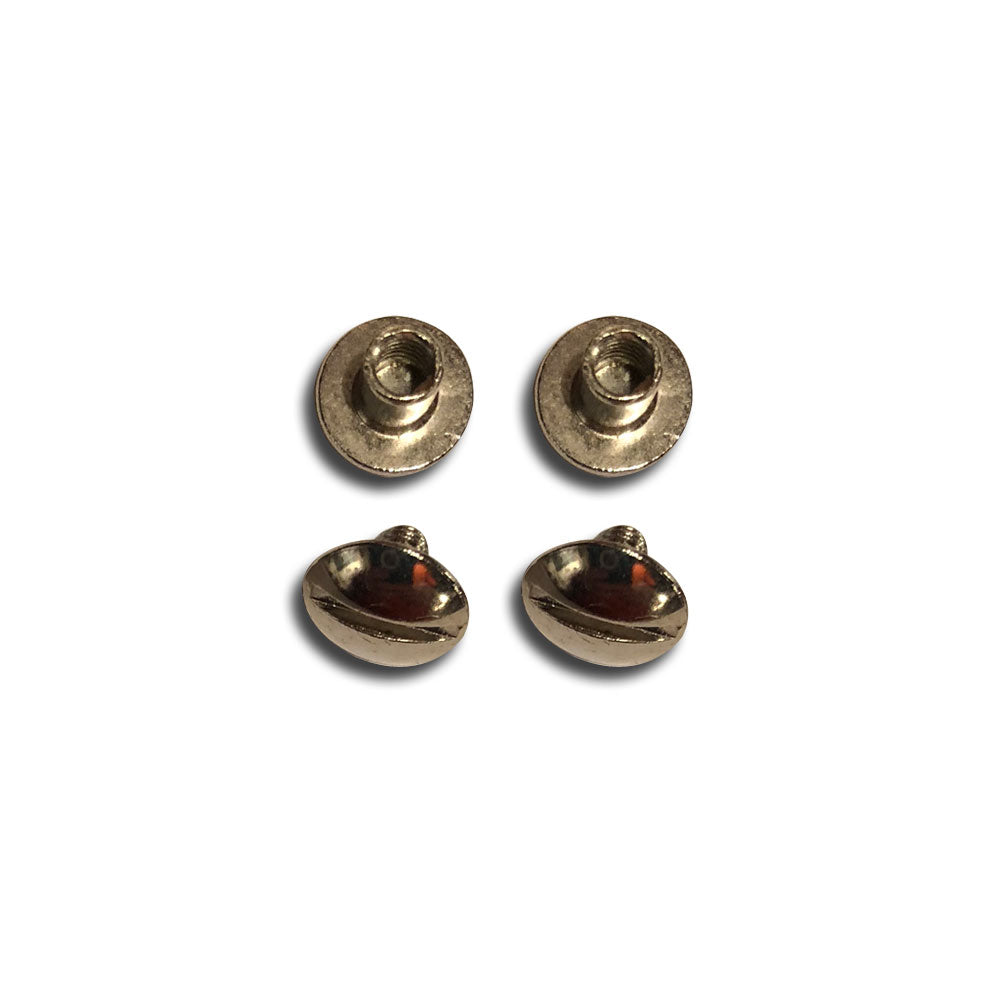 "Nickel Plated Replacement Screws - 1/4""-Gift Certs. & Parts-Rockstar Leatherworks™"