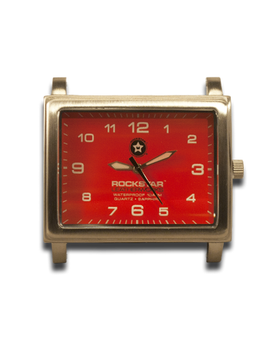 Red Square 42mm Watch Face - Stainless Steel Sapphire Crystal 10ATM-Gift Certs. & Parts-Rockstar Leatherworks™