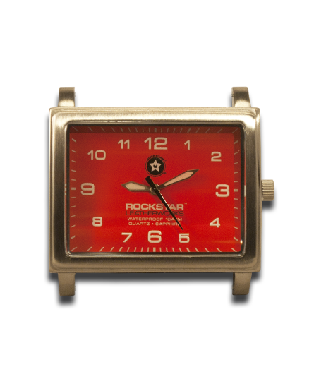 Red 42mm Stainless Watch Face