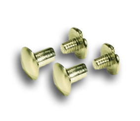 "Brass Plated Replacement Screws - 1/4""-Gift Certs. & Parts-Rockstar Leatherworks™"