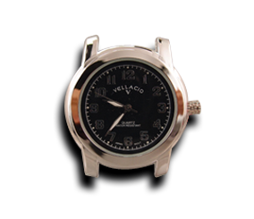 Black Round Watch Face (38mm Alloy)-Gift Certs. & Parts-Rockstar Leatherworks™