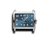 Blue Rectangle Watch Face (Alloy)-Gift Certs. & Parts-Rockstar Leatherworks™
