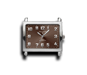 Brown - Rectangle Watch Face (Alloy)-Gift Certs. & Parts-Rockstar Leatherworks™