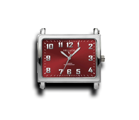 Red - Rectangle Watch Face (Alloy)-Gift Certs. & Parts-Rockstar Leatherworks™