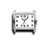 White - Rectangle Watch Face (alloy)-Gift Certs. & Parts-Rockstar Leatherworks™