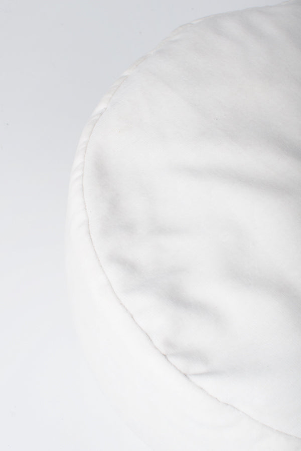 Handcrated Buckwheat Meditation Pillow (White)