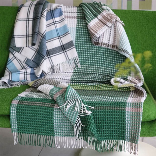Linen Florentin Emerald Throw
