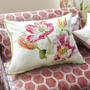 Linen Spring Tulip Buttermilk Pillow