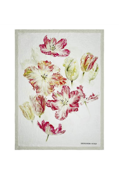 Linen Spring Tulip Buttermilk Throw